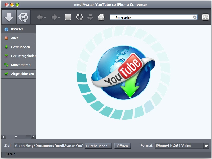mediAvatar YouTube to iPhone Converter Mac
