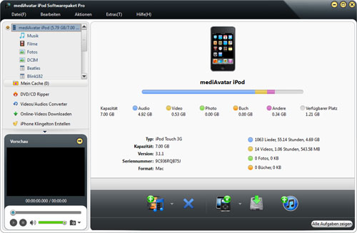 iPod Softwarepaket Pro